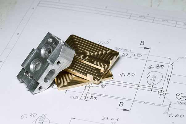 Ready Cnc Golden And Silver Metal Detail On Technical Drawing Sketch With Measures2